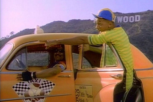 The Taxi Ride In Fresh Prince Would Have Cost An Absolute Fortune Apparently 56857UNILAD imageoptim Cabbie