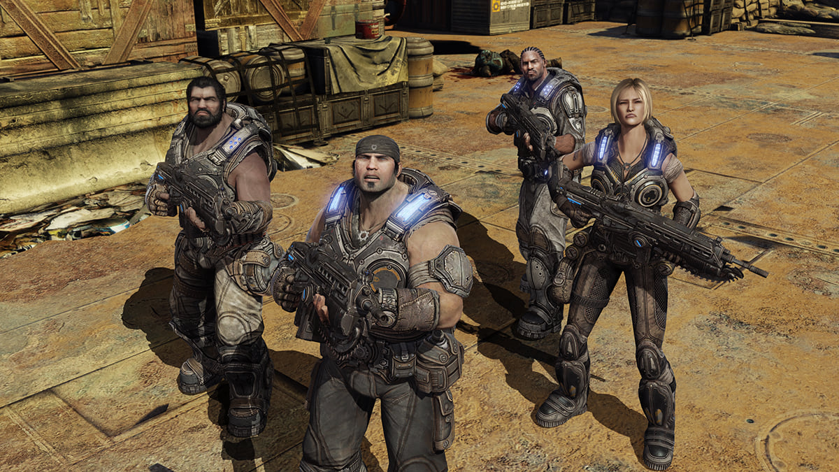 Gears Of War Movie Confirmed To Be Back Underway 8633UNILAD imageoptim Gears of War 3 campaign screenshot featuring Marcus Fenix and Delta Squad