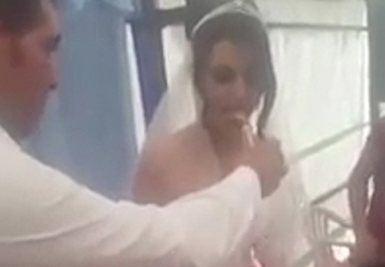 Disturbing Moment Groom Loses His Sh*t And Slaps Bride Goes Viral cake1
