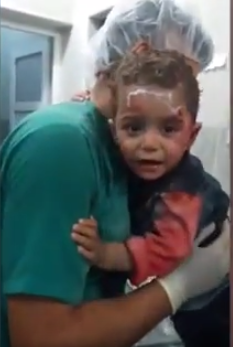 Heartbreaking Video Of Syrian Boy Clinging On For Life After Airstrike Hits His House child1