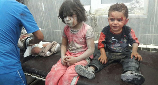 Heartbreaking Video Of Syrian Boy Clinging On For Life After Airstrike Hits His House child3