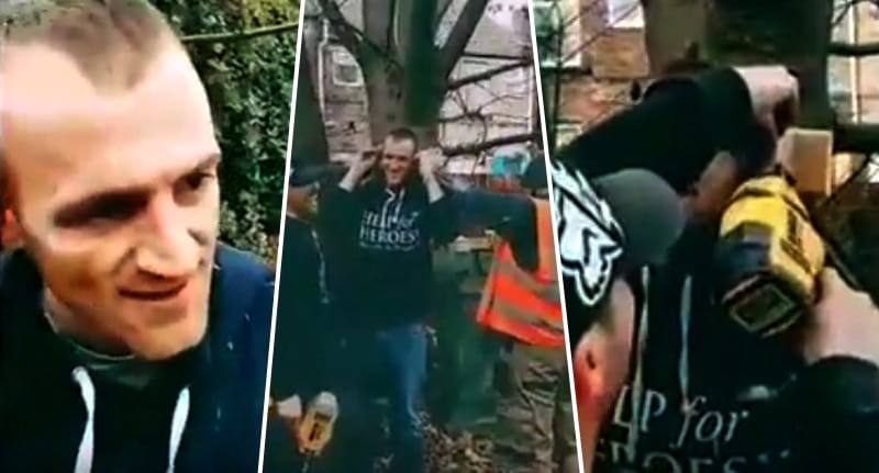 Absolute Idiot Nails His Ears To A Tree In Grim Footage 13623UNILAD imageoptim Man nails ears treeFB