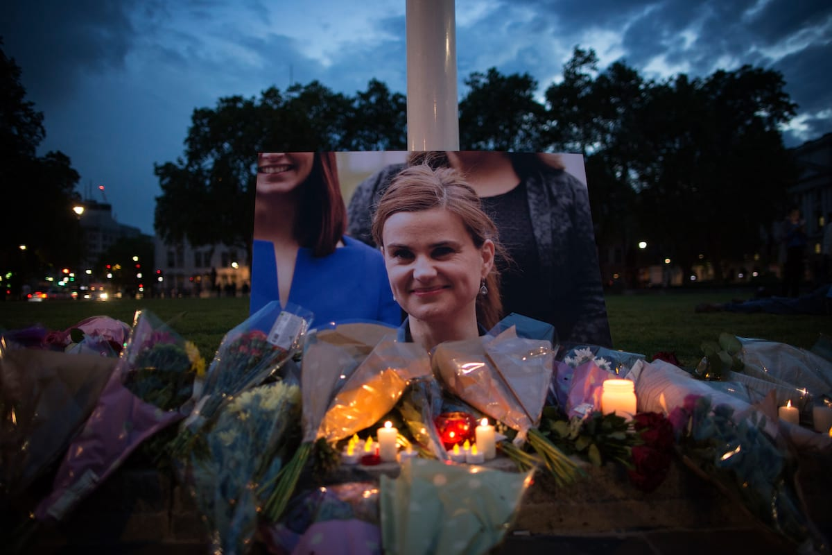Memorial for murdered MP, Jo Cox