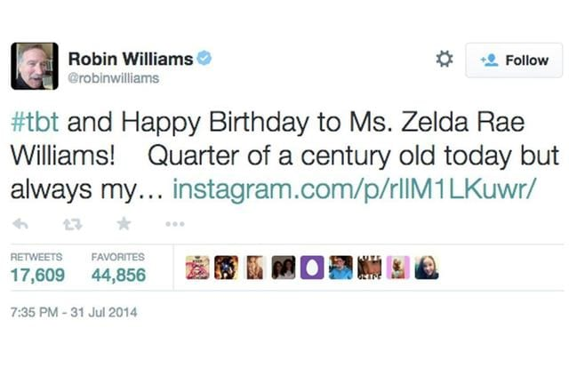 The Haunting Last Tweets Celebrities Sent Before They Died 21265UNILAD imageoptim Robin Williams final tweet