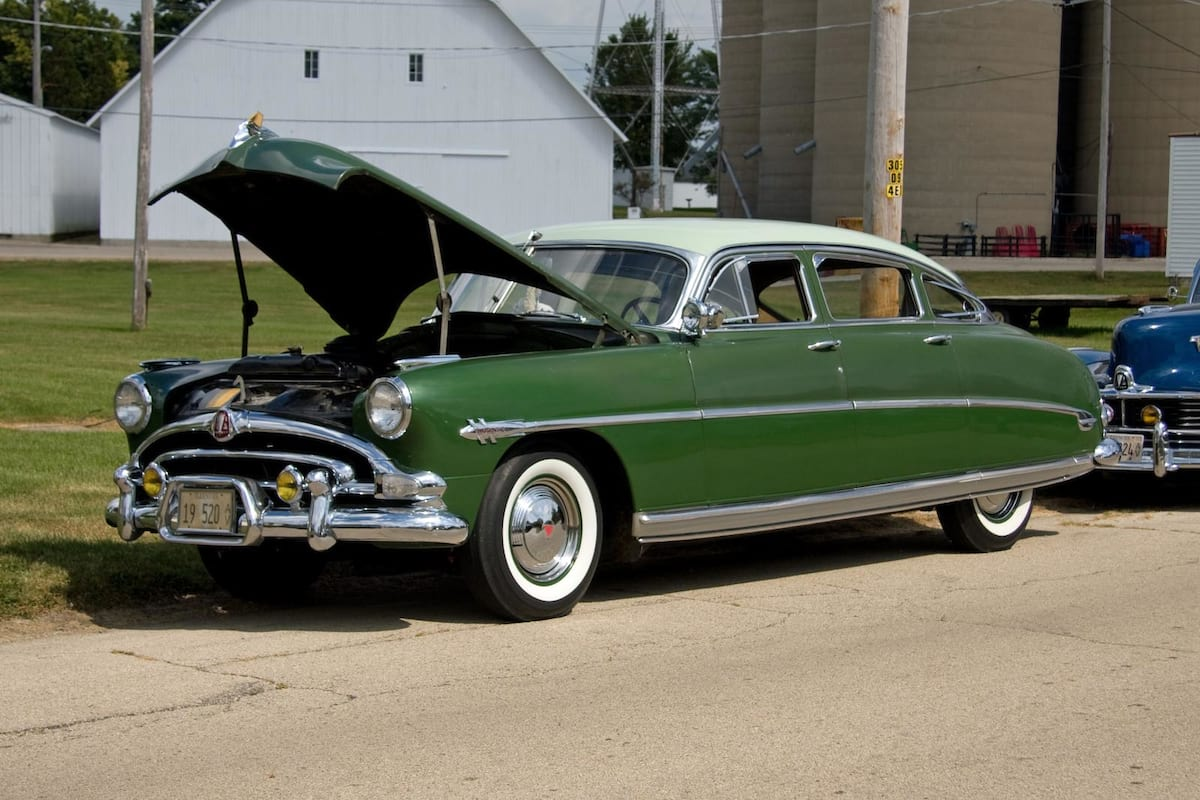 This Is What Your Cars Colour Says About You 25224UNILAD imageoptim 1953 Hudson Hornet four door sedan in green 8131