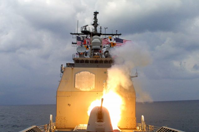 Heres When Trump Will Get Nuclear Codes And How Easy They Are To Use 29828UNILAD imageoptim USS Anzio CG 68 fires a Tomahawk missile during OIF 640x426