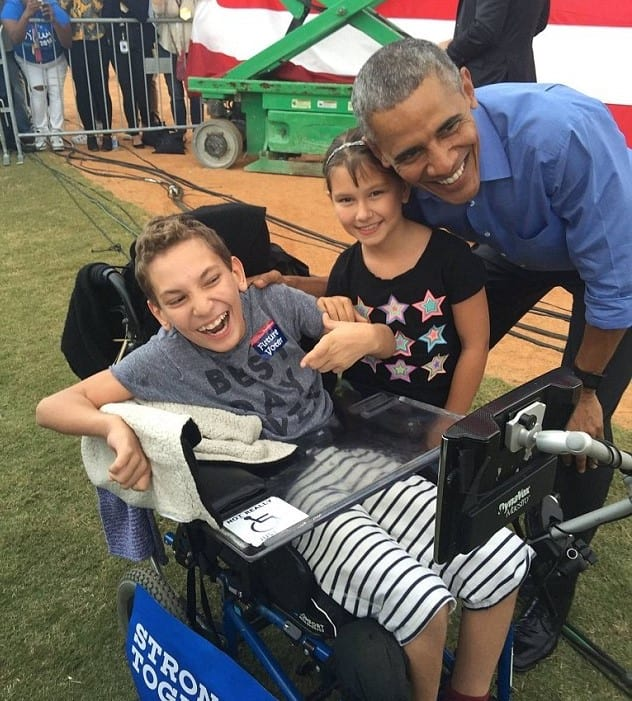 Obama Makes Dream Come True For Disabled Child Kicked Out Of Trump Rally 37169UNILAD imageoptim oram