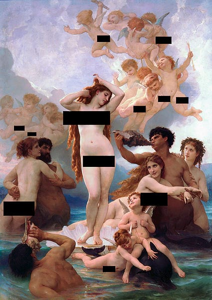 The Government Is About To Start Blocking Porn Sites 52697UNILAD imageoptim CENSORED The Birth of Venus by William Adolphe Bouguereau 1879