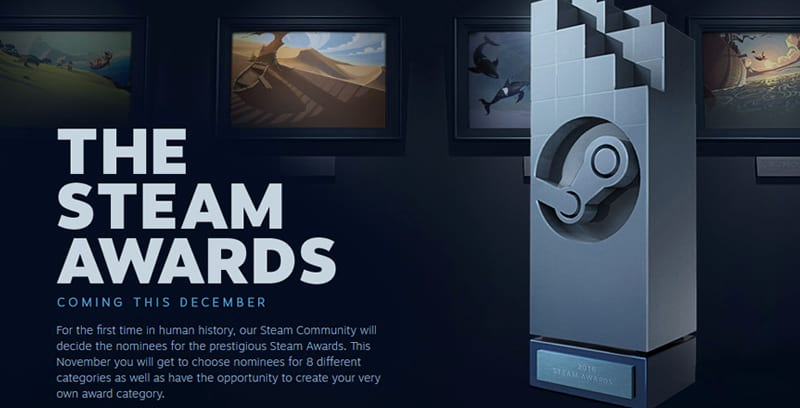 you can make your own steam awards and people are going nuts