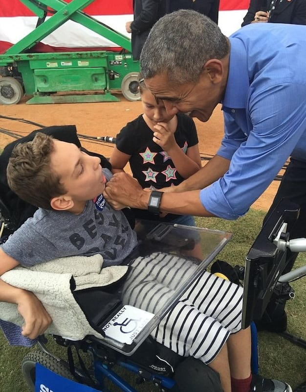 Obama Makes Dream Come True For Disabled Child Kicked Out Of Trump Rally 57141UNILAD imageoptim obam