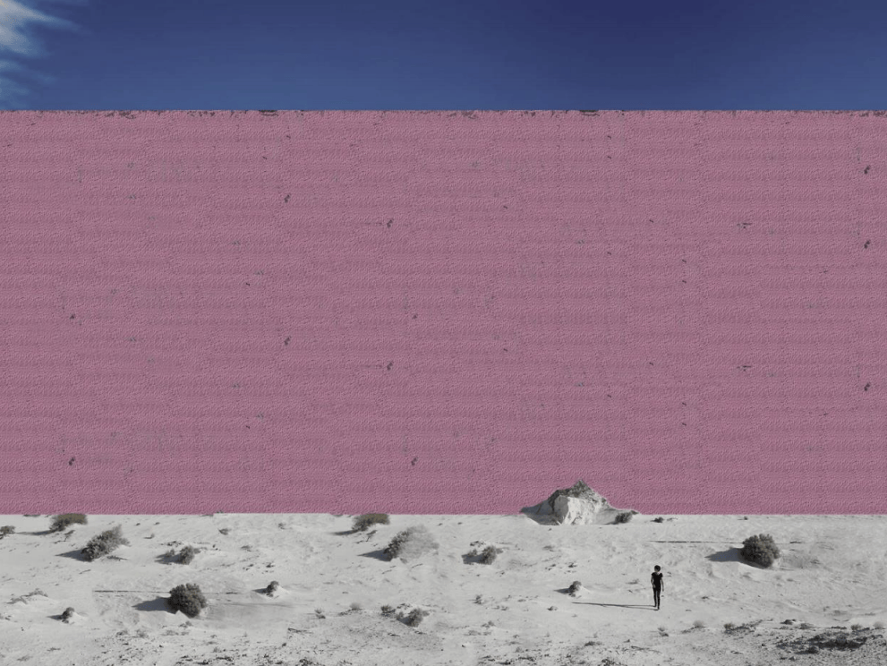 Heres What Donald Trumps Mexican Wall Might Look Like 8113UNILAD imageoptim the designers imagineda pink wall since trump has repeatedly said it should be beautiful