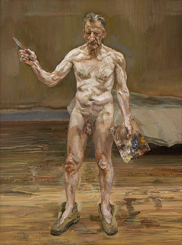 lucian-freud_painter-working-reflection