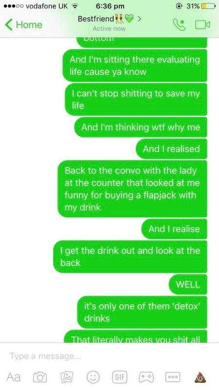 Girls Texts To Mate About Having A Horrific Sh*t Are Hilarious 52649UNILAD imageoptim 7a7caaa7585a383015c9df0e4111d834
