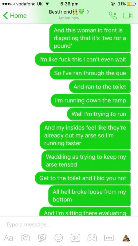 Girls Texts To Mate About Having A Horrific Sh*t Are Hilarious 60600UNILAD imageoptim 6b390af8585a383015c9687d42ffcee5