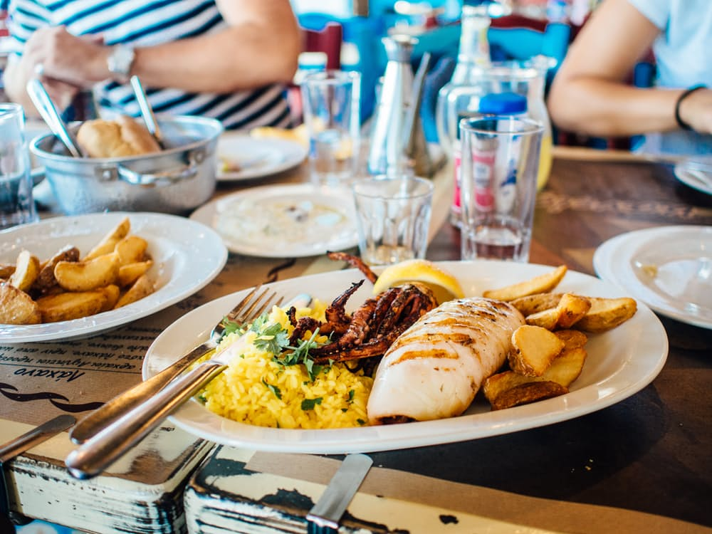 How To Avoid Holiday Weight Gain food plate restaurant eating