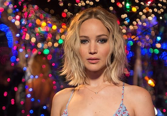 Actress Jennifer Lawrence, who suffers social anxiety, standing in the spotlight