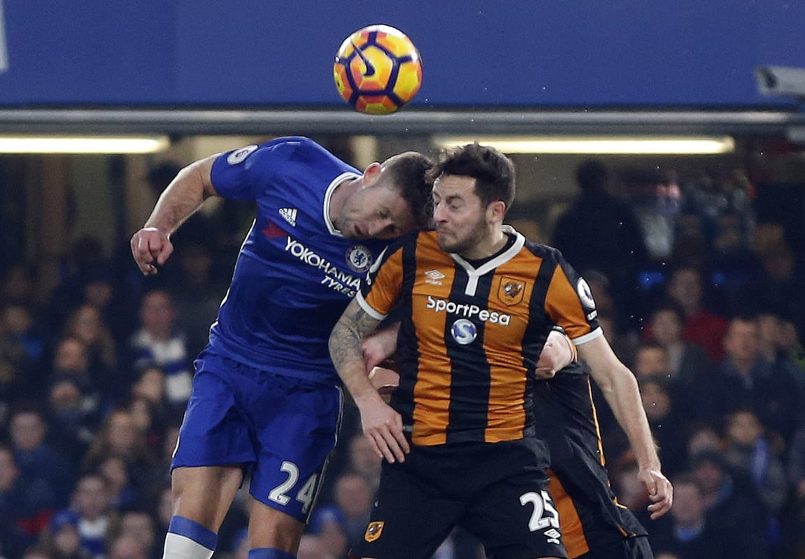 Vile Trolls Abuse Gary Cahill On Twitter After Head Clash With Ryan Mason Unilad Imageoptim Pa