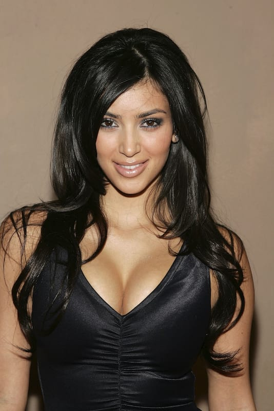 Kim kardashian's birthday throwback
