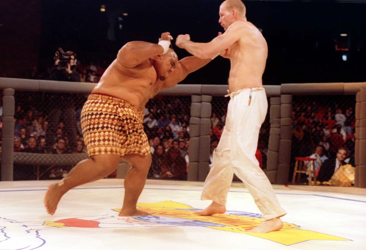 Rare Footage Of UFC 1 Shows How Savage The Sport Started Out 9636UNILAD imageoptim GettyImages 285776