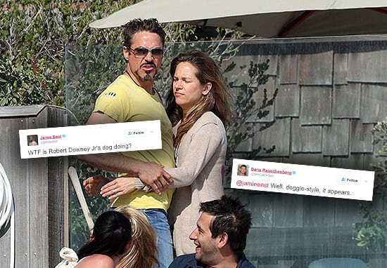 Robert Downey Jr Photobombed By Hilarious Dog