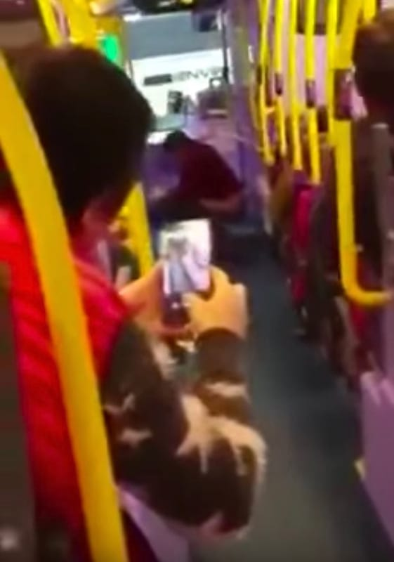 Passengers Film As Woman Does Poo In Front Of Everyone On A Bus 1637 Woman appears to take a POO on middle of a bus