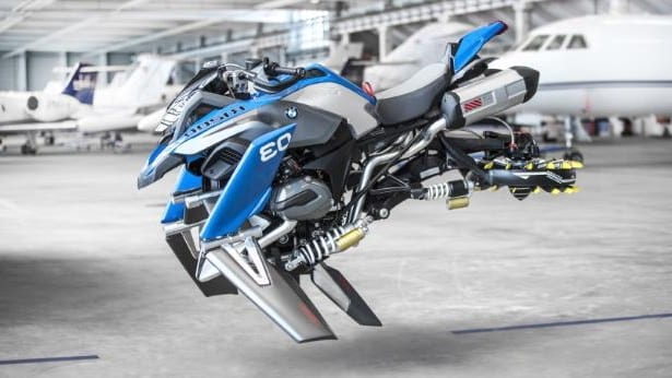 bmw unveils flying motorbike based on lego