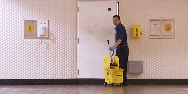 Doing the janitor