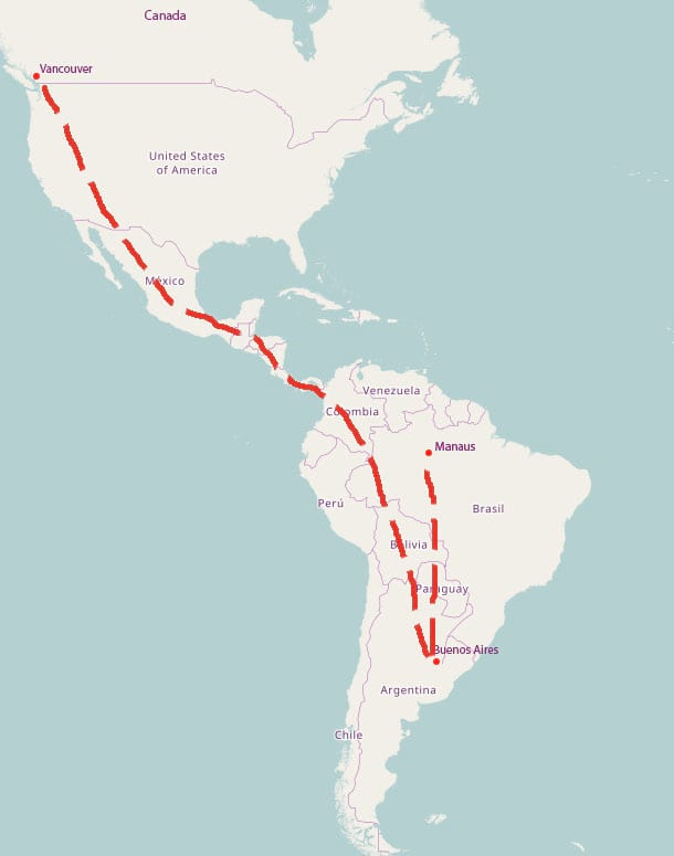 Man Who Disappeared From Canada in 2012 Found In Brazilian Jungle 62275UNILAD imageoptim Map