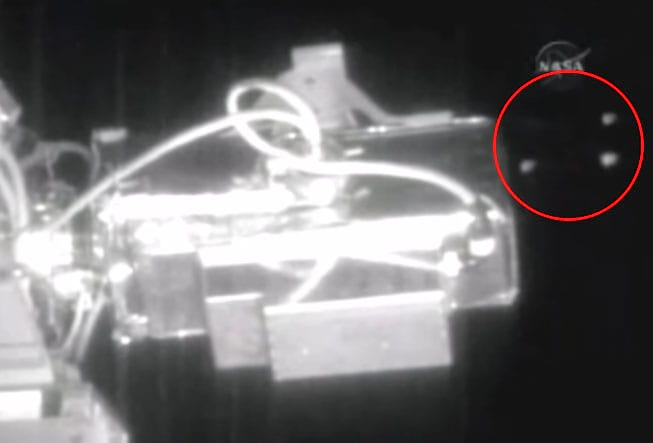 Six UFOs Fly By International Space Station During NASA Live Feed 674 NASA1