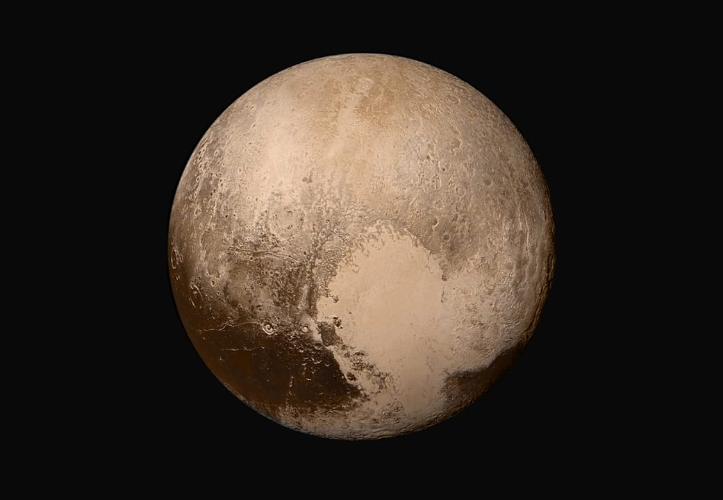 Shocking New Data Shows Alien Life Could Already Exist On Pluto 1349 global mosaic of pluto in true color