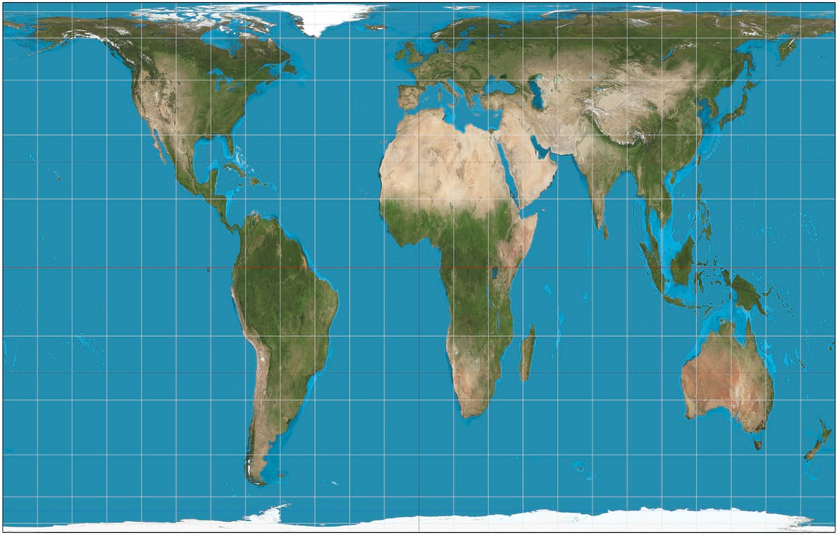 The Map Of The World Is Changing To Correct 500 Year Old Error 1414 Gall–Peters projection SW