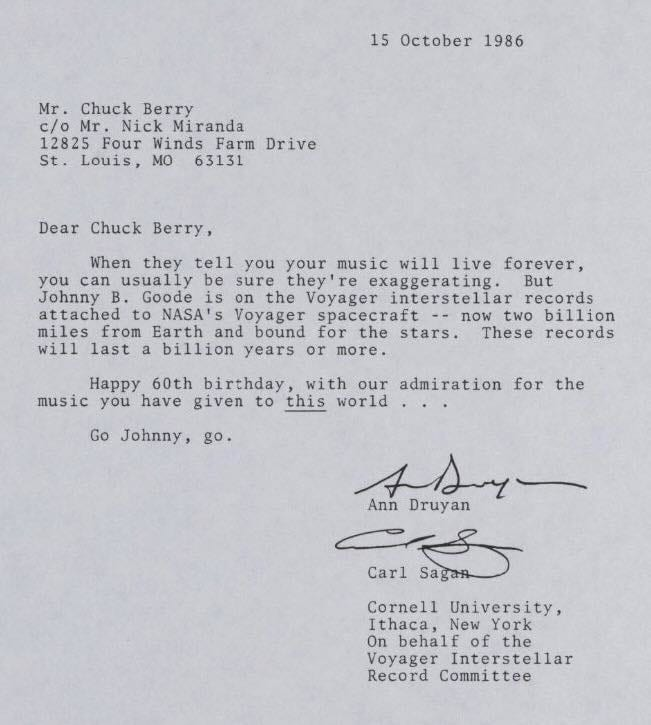 NASA Sent Chuck Berry A Letter And It Was Perfect – Admiration Letter
