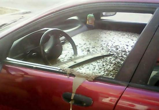 Husband Fills Wife's Car With Cement As Revenge For Bizarre Name Change