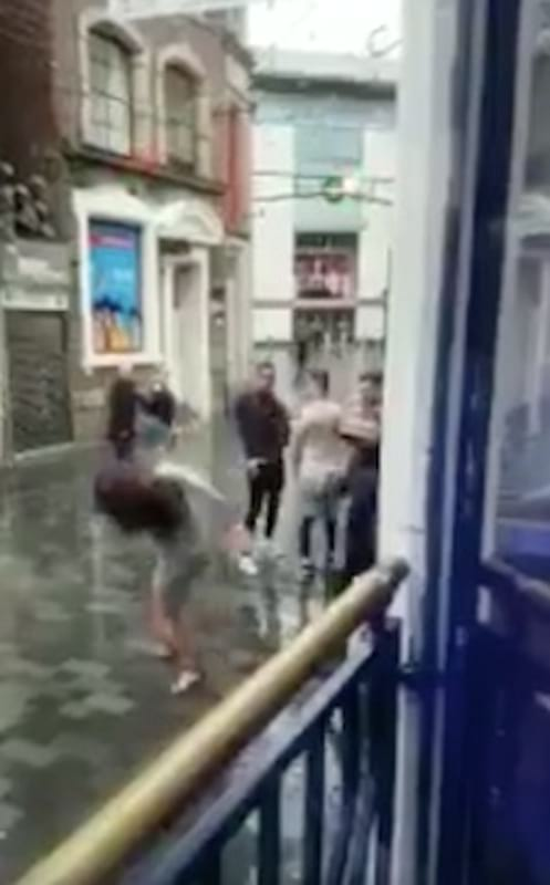 Bouncer Punches Woman In Face After She Tries To Attack Him 580 bouncer7