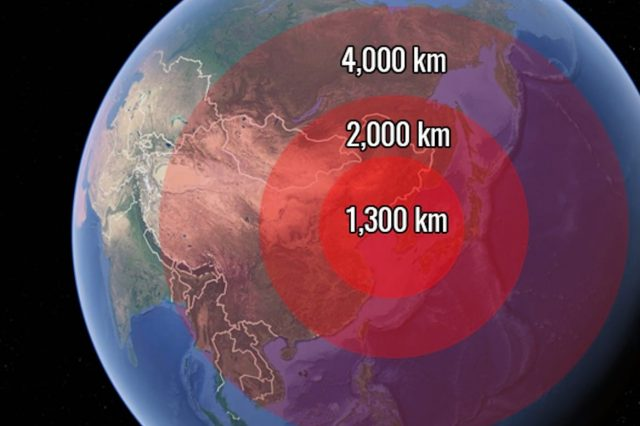 This Map Shows The Countries At Risk From North Korean Missiles 609 n 640x426
