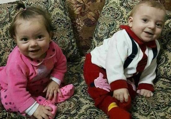 Father Wants World To See What Syrian Gas Attack Did To His Twin Baby Boy And Girl