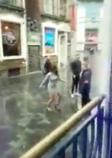 Bouncer Punches Woman In Face After She Tries To Attack Him bouncer1