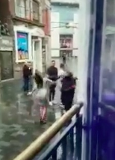 Bouncer Punches Woman In Face After She Tries To Attack Him bouncer2