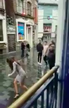 Bouncer Punches Woman In Face After She Tries To Attack Him bouncer8