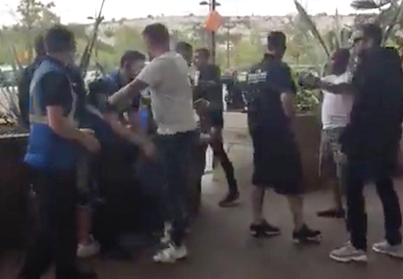 Mass Brawl After Paedophile Caught On Facebook Live And Viewers Turn Up