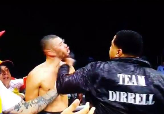 Boxer's Uncle Enters Ring And Sucker Punches Loser After Fight