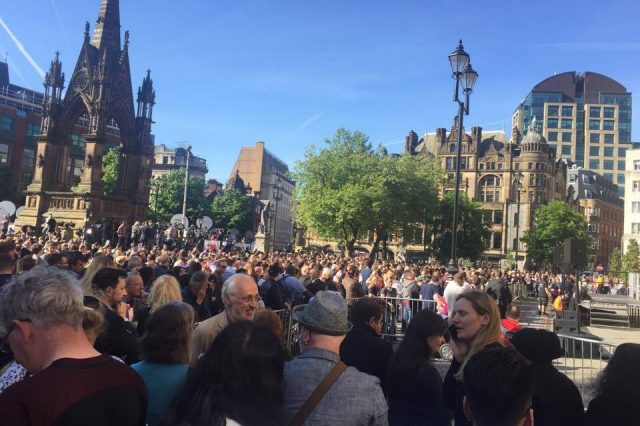 Thousands Show Solidarity At Vigil For Manchester Terror Attack Victims
