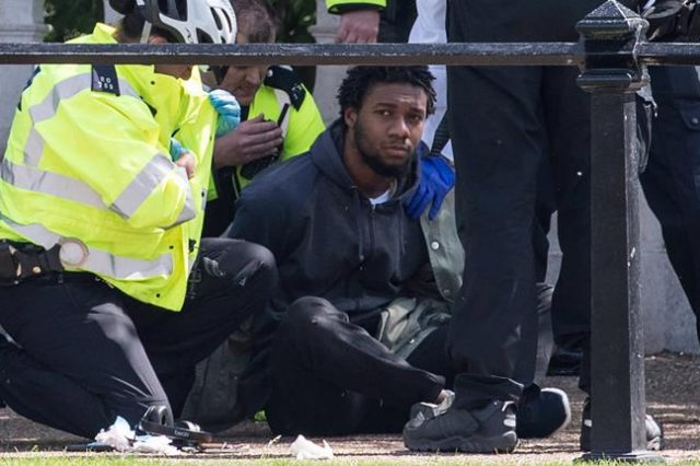 Knifeman Arrested Yards Away From The Queen At Buckingham Palace