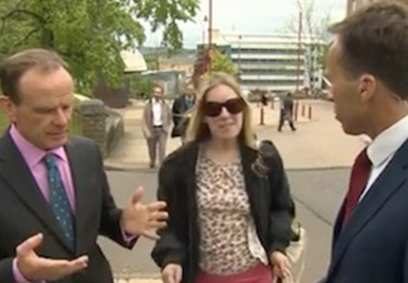 BBC Reporter Slapped After Grabbing Woman's Boob On Live TV