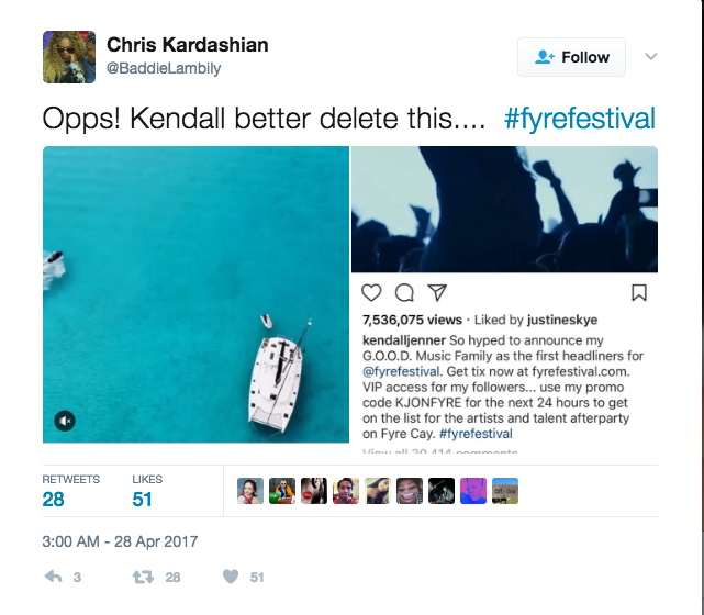Kendall Jenner Instagram Post Could Cost Her Millions screen shot 2017 05 05 at 12 34 06 pm