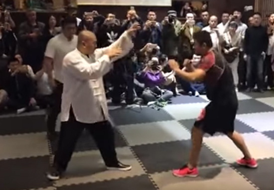 Tai Chi Master Who Cant Be Hit Takes On MMA Fighter In Epic Fight taichi1