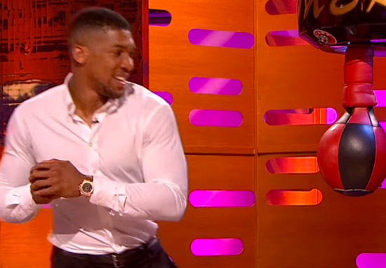 Anthony Joshua Showed Off His Incredible Punching Power On Graham Norton Show