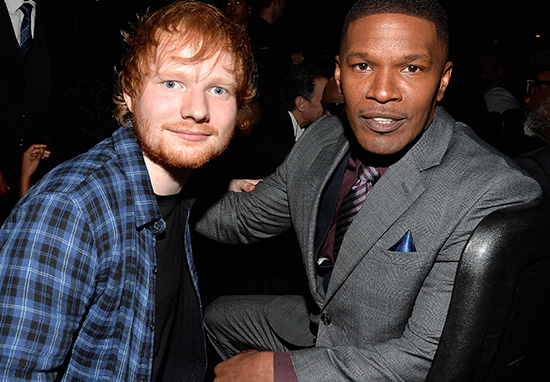 Ed Sheeran Lived On Jamie Foxx's Couch While He Tried To Make It Big
