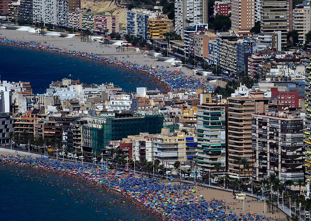 Benidorm Tourists Flee Beach After Floods Turn Streets Into Rivers GettyImages 587600330