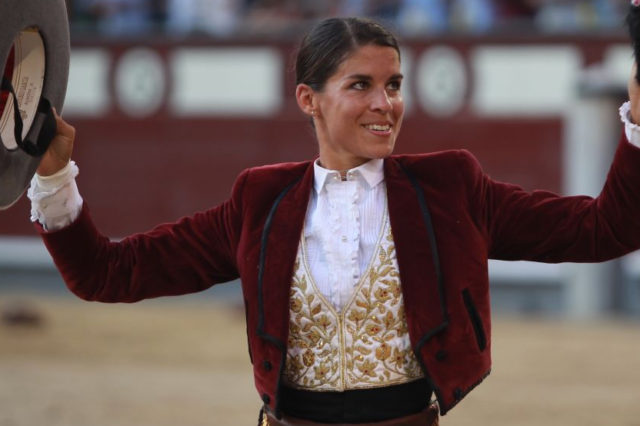 Outrage As Bullfighter Poses With Ear Of Bull That Nearly Killed Her